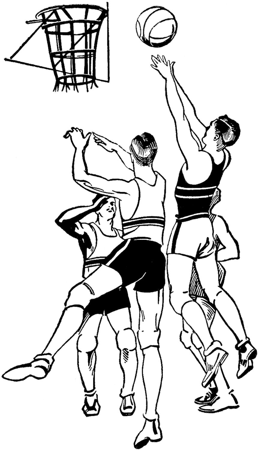 Vintage Basketball Image Sports coloring pages, Graphics