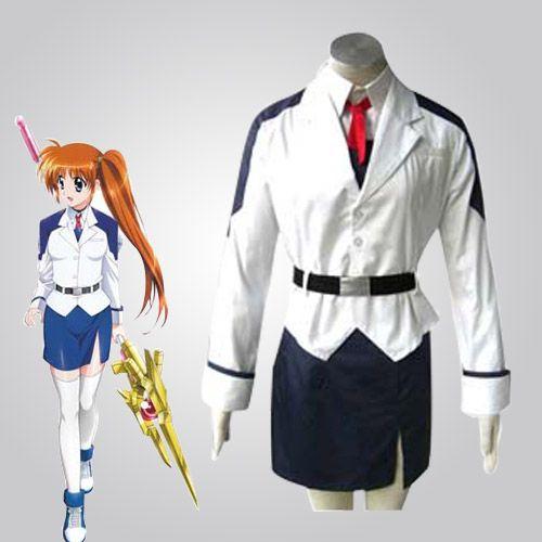 Cute Magical Girl Lyrical Nanoha Takamachi Cosplay Costume