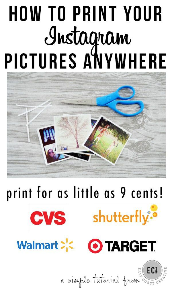 how to print instagram pictures cheaply at any store! | craft ideas ...