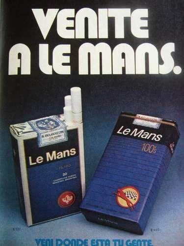 Cigarrillos Le Mans Decada Del 70 Publicidades Argentinas Y