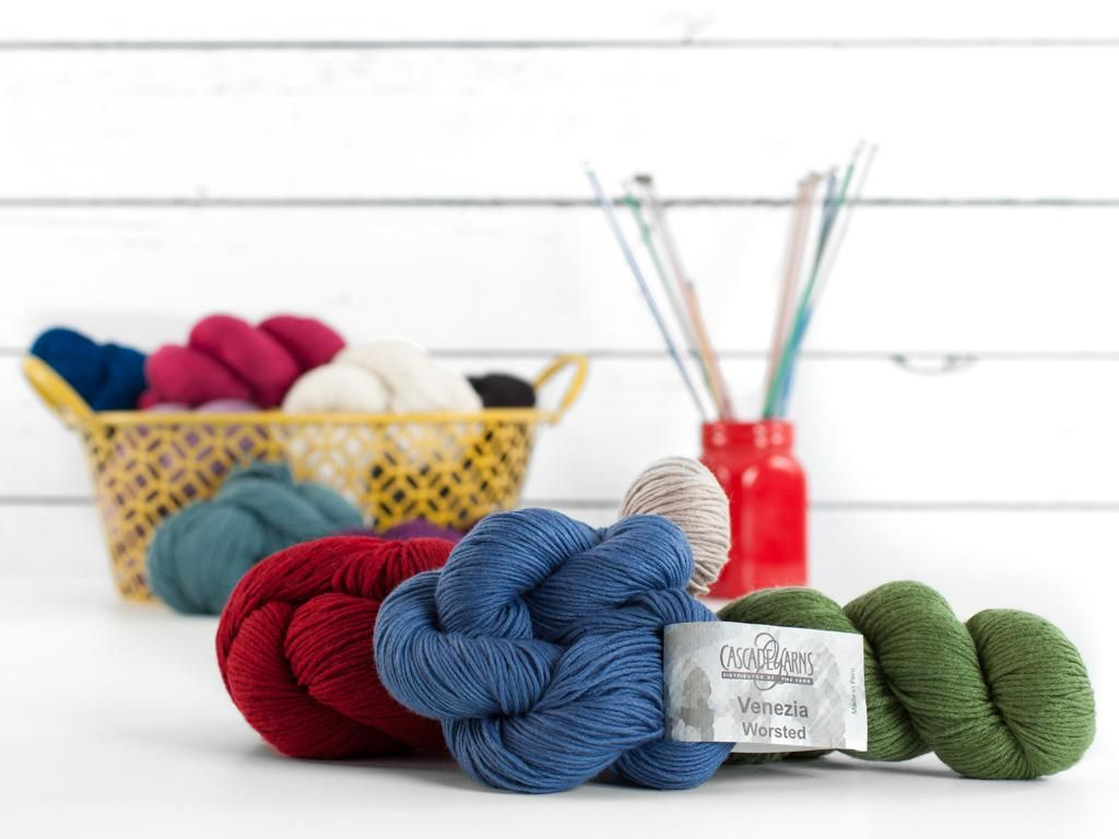 Cascade Venezia Worsted Yarn - Merino, silk