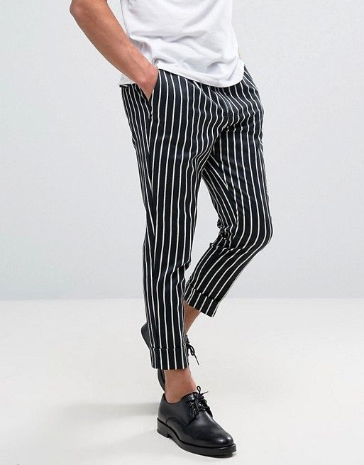 Man pinstripe pants