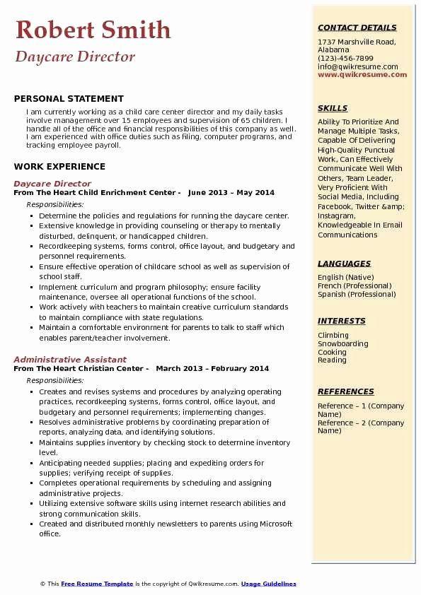20 child care job description resume in 2020
