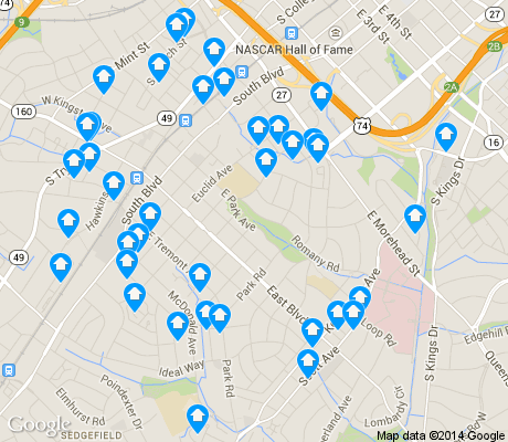 Dilworth is the 5th most walkable neighborhood in Charlotte with