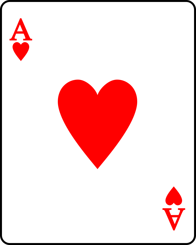 Template Card Wikipedia Hearts Playing Cards Valentine Card Template Ace Of Hearts