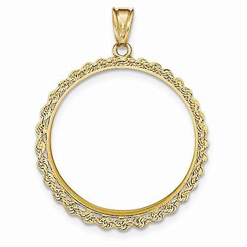 Fine 14k White Gold Sparkle Cut American Eagle Pendant