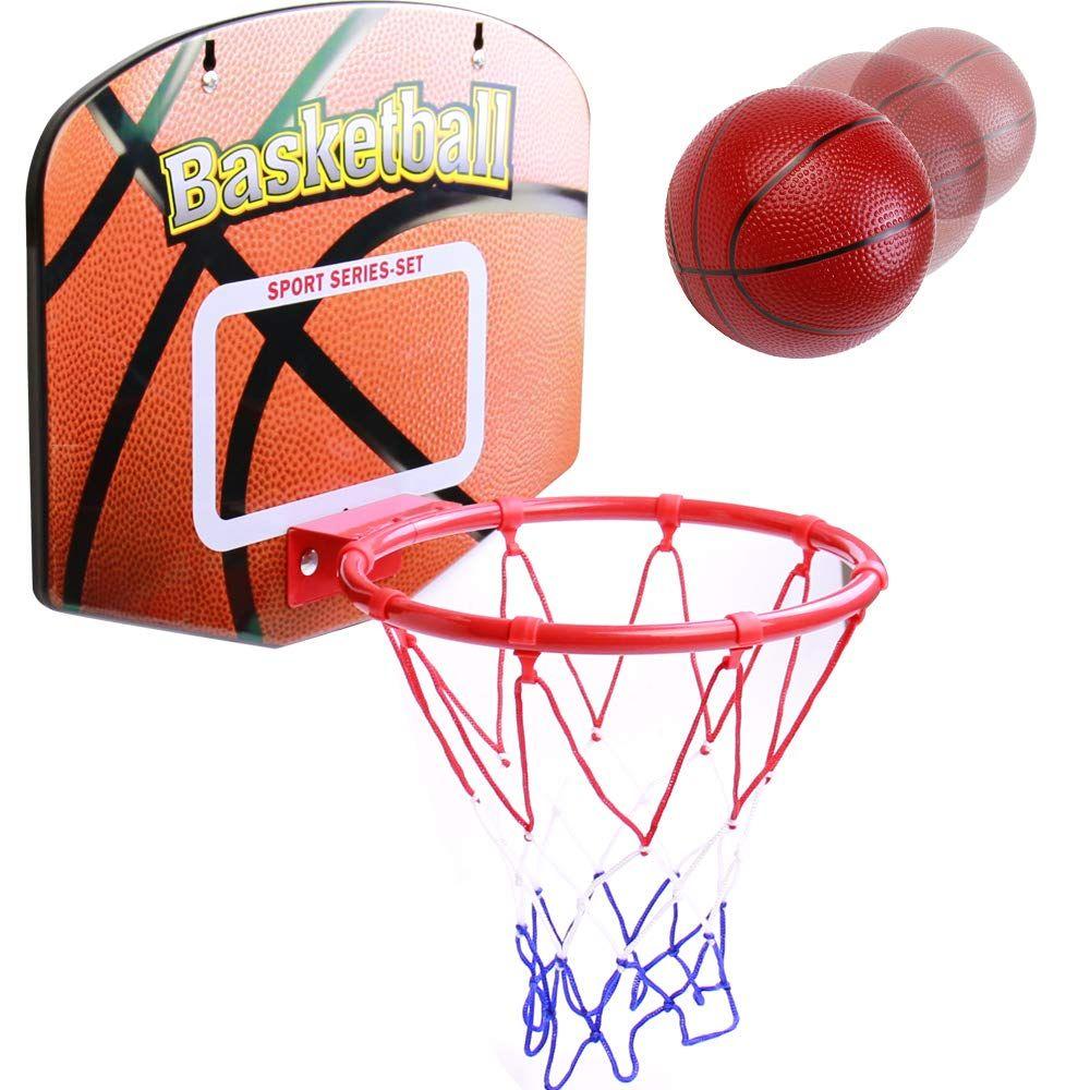 Jerryvon Panier De Basket Mural Enfant Mini Panier Basket Jouets De Basket Ball Jeux De Basketball Pour Chambre Homme Jardin Exterieur Interieur Cadeau Jouet Fi In 2020