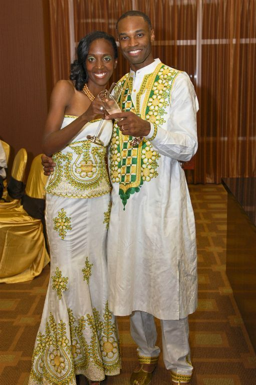 African-inspired wedding gown and groom\'s attire by TeKay Designs ...