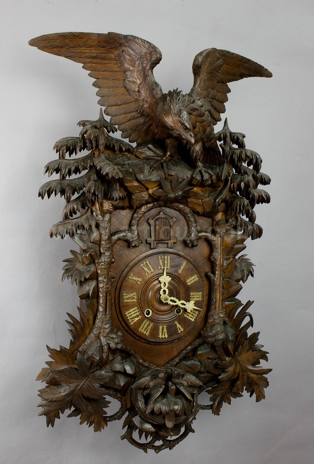 a rare antique black forest cuckoo clock with eagle ca