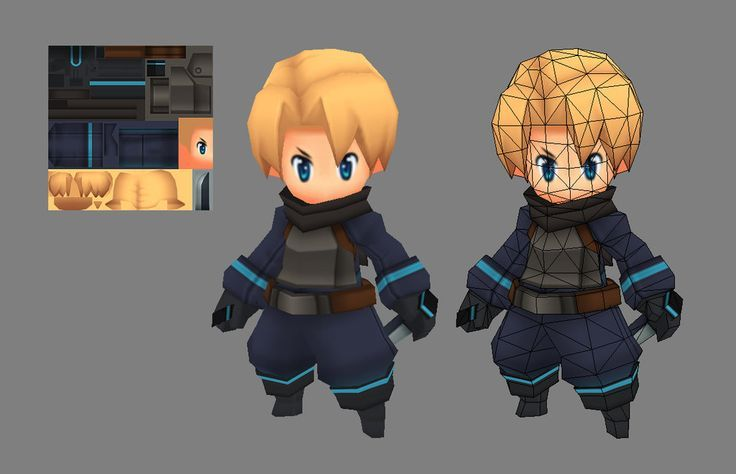 Low Poly Character Modeling Blender : Low poly a d anime pesquisa google refs jogos