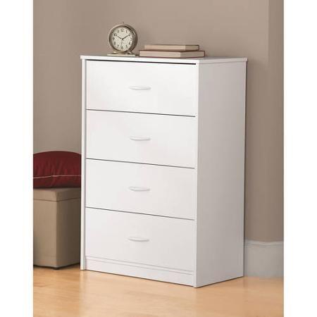 Mainstays 4 Drawer Dresser Walmart Com Storage Furniture Bedroom Drawers White Bedroom Furniture