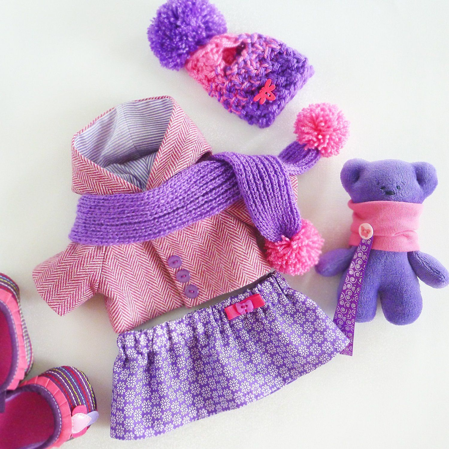 Extra set of clothes for doll 14.5 clothes fits for toys ZuzuHappyToys