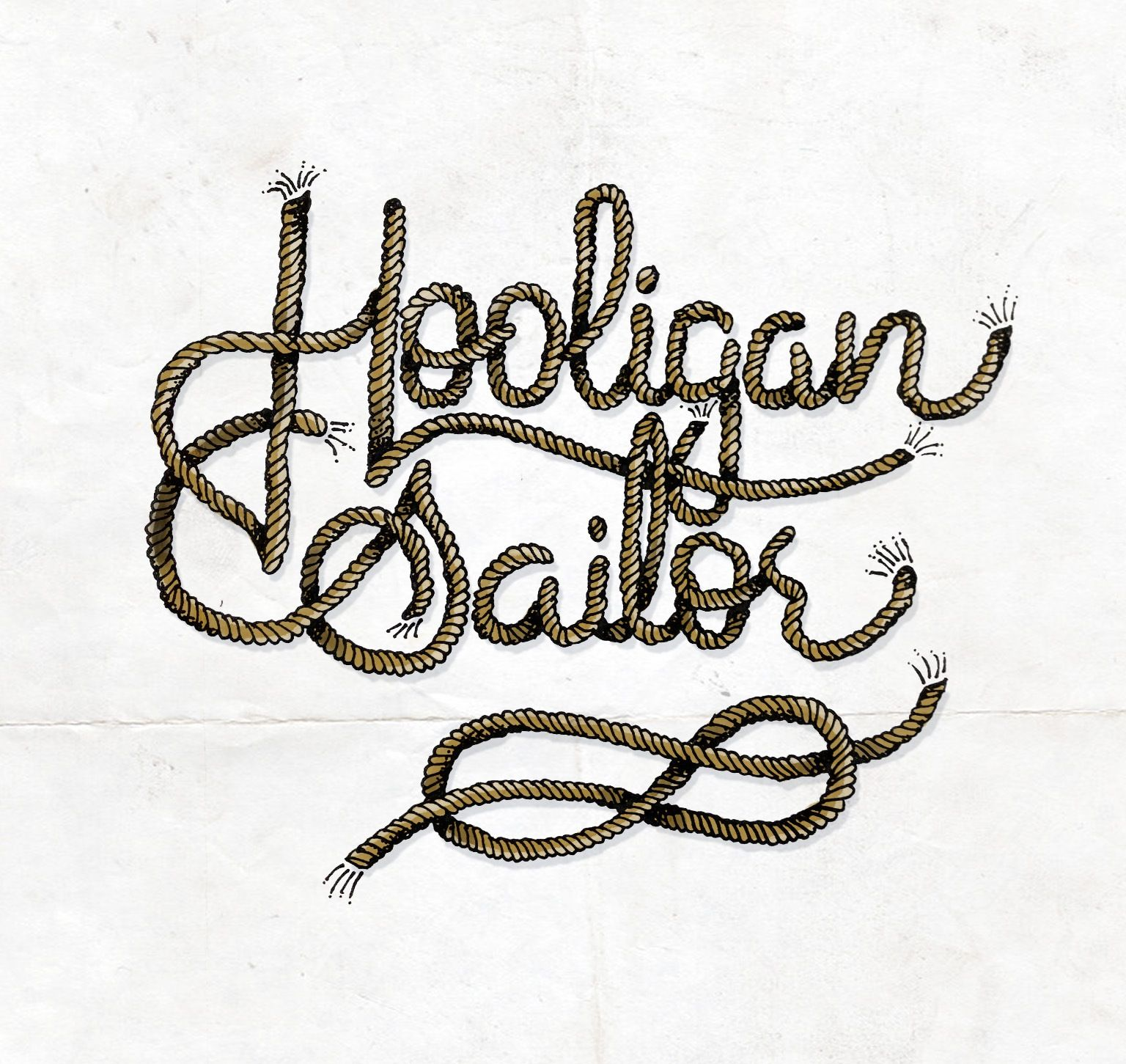 'Hooligan Sailor' Ink on paper, with a little magic marker. #handlettering