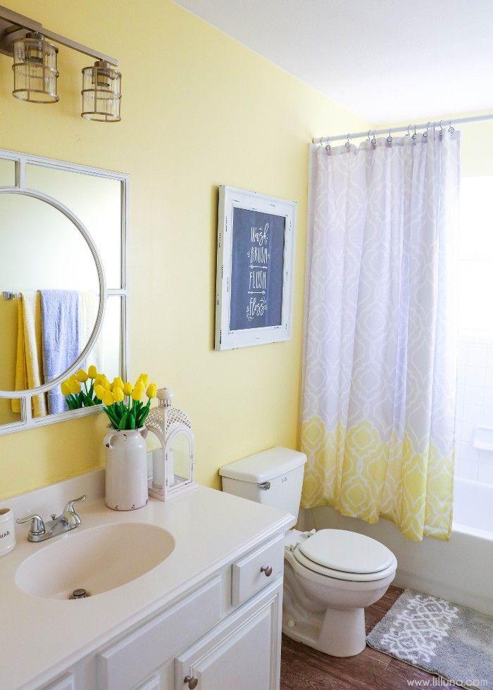 Bathroom Refresher With Bhg Yellow Bathroom Decor Small Apartment Bathroom Yellow Bathrooms