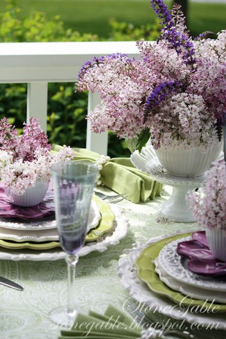 40 Lavender Dining Room Sets Inspirations For Valentine Day Spring Tablescapes Tablescapes Beautiful Table Settings