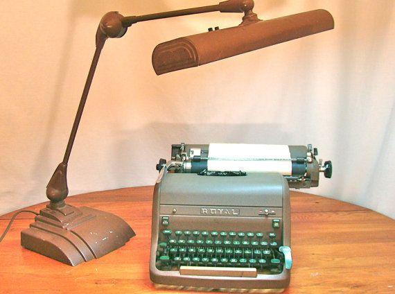 Vintage Desk Lamp by Flexo Industrial Decor Large by TheGrayFedora, $55.00