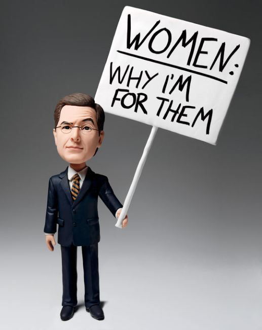Stephen Colbert and his respect and admiration for all women