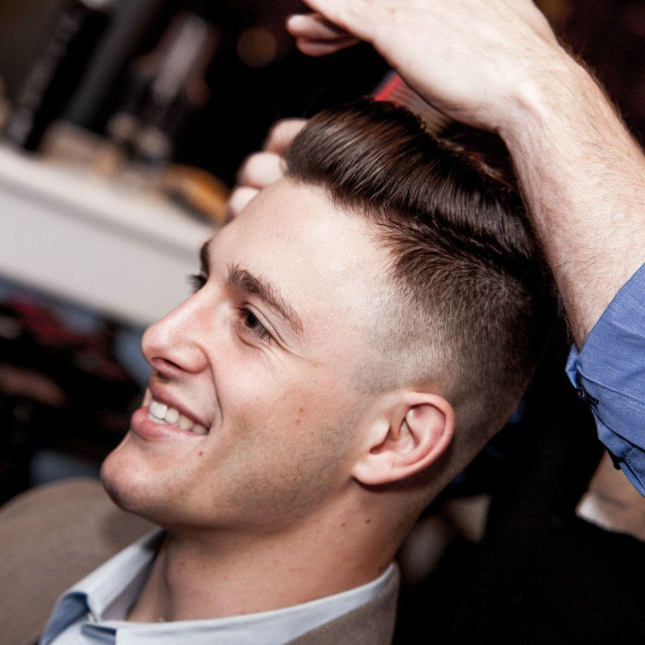 Haircut styles for men fades close mid fade pomp or modern fade  trending menus cuts  pinterest