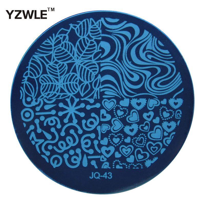 Yzwle 1 pz moda JQ43 stile nail art stamp stamping piatti manicure template, 75 stili per scelgono  (JQ-43)
