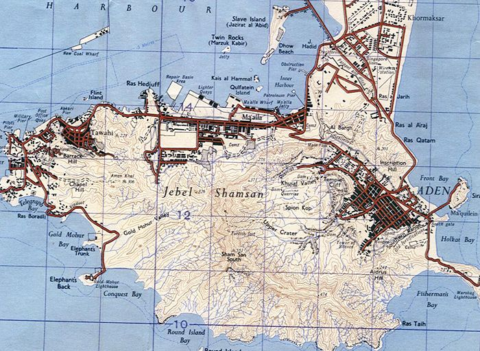 Military map of Aden chats ulu Pinterest