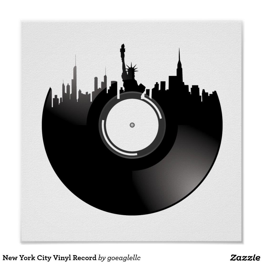 New York City Vinyl Record Poster New York City
