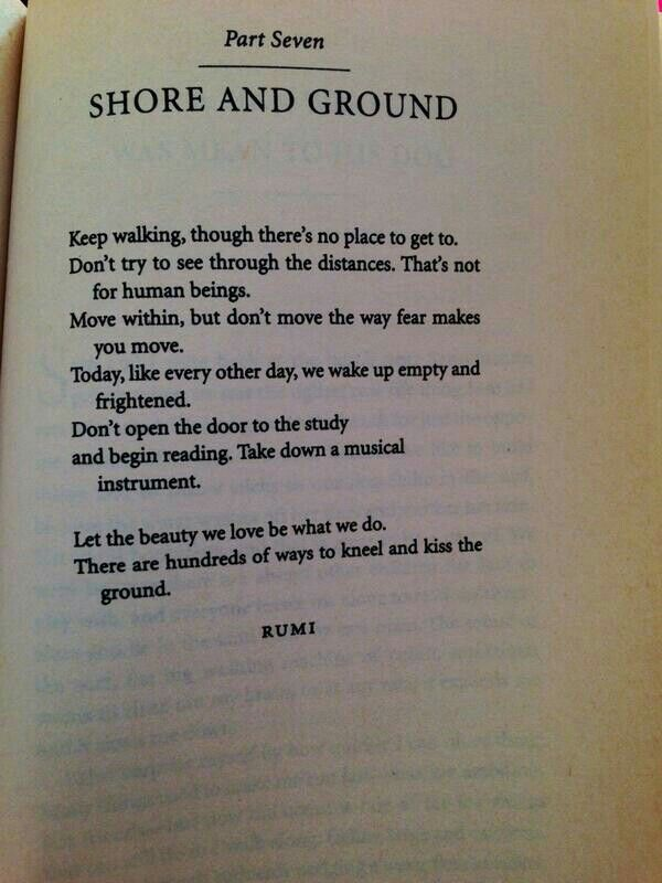 Rumi, speaking from heart to heart ..