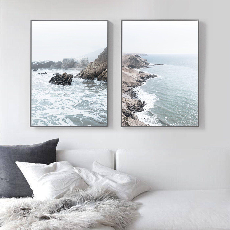 Coastal Print Set Wall Art Prints Set Of 2 Prints Printable Etsy Coastal Prints Wall Art Prints Wall Printables