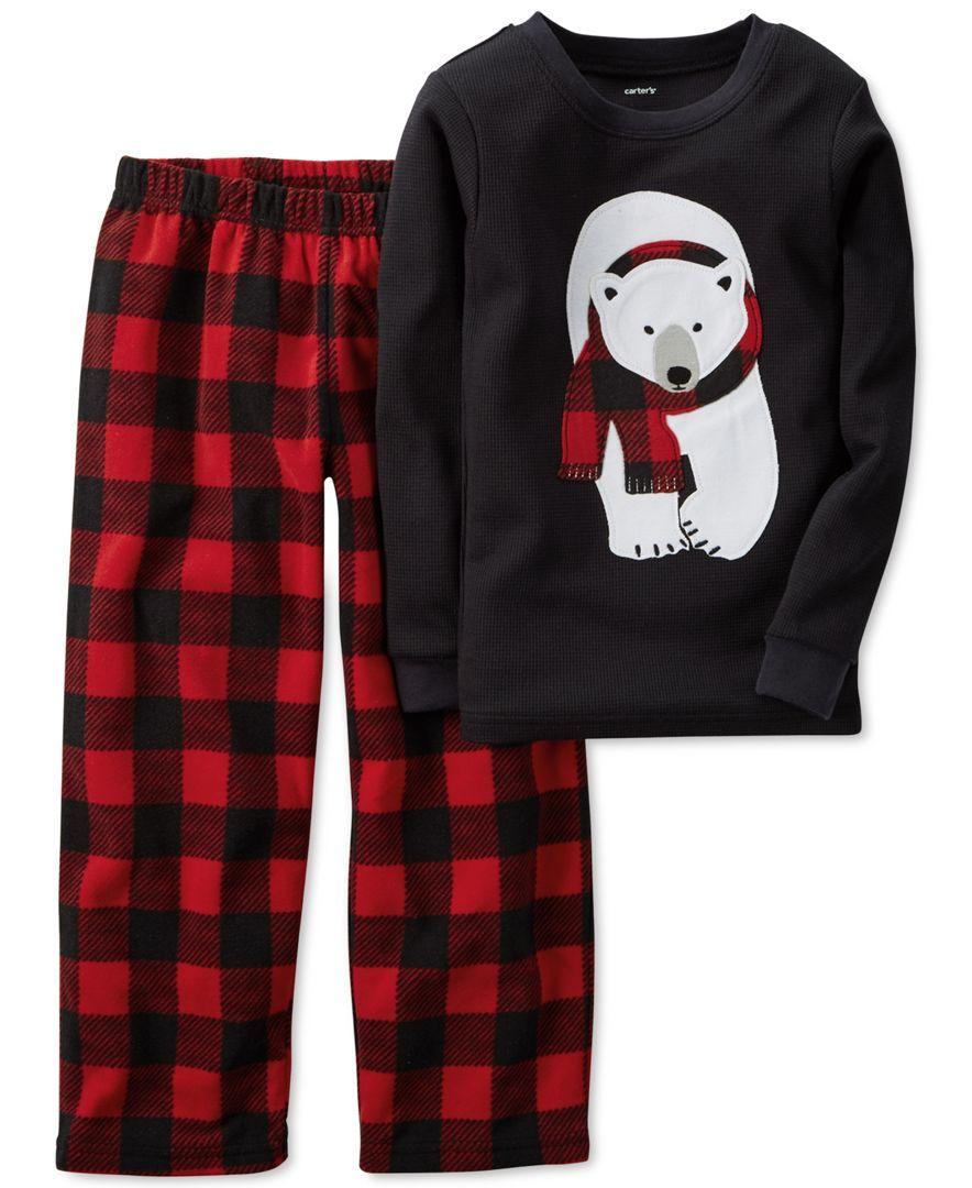 fec5fca1d Carter s Baby Boys  2-Piece Polar Bear Top   Pajama Pants