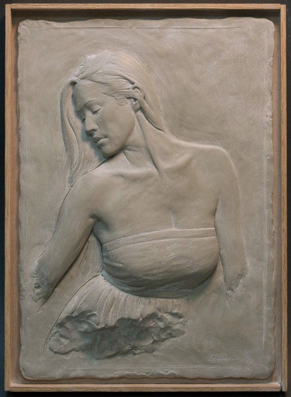 Woman bas relief sculpture limited edition by