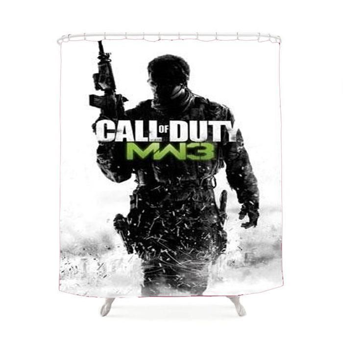 Call Of Duty Prints Inspired Shower Curtain