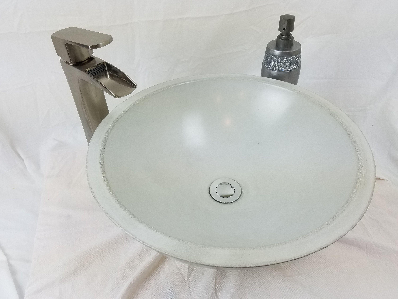 17 Round Vessel Concrete Sink Concrete Sink Sink Concrete