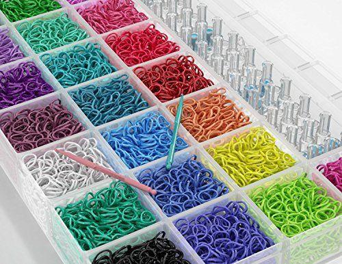 large box rainbow loom bands 4000 rubber friendship bandz set kit 1 rh pinterest ph Loom Band Organizer Krazy Looms Bandz Set