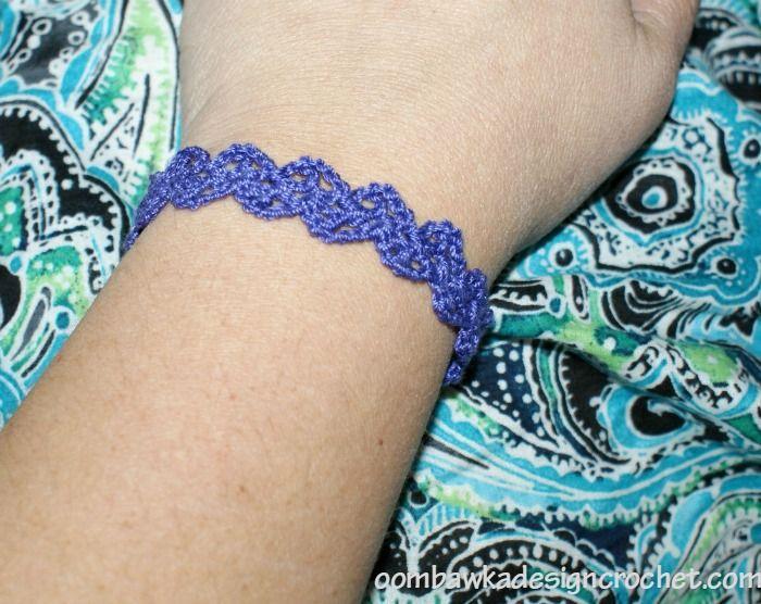 Lacy Crochet Cuff Bracelet Free Crochet Pattern Pulseras A