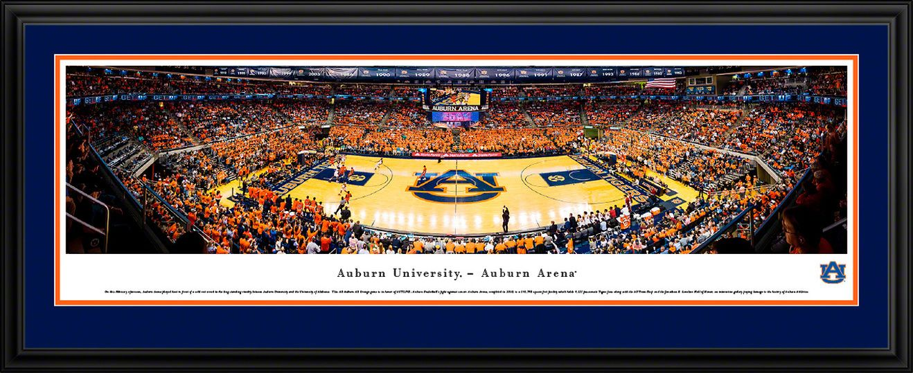 Auburn Tigers Basketball Panoramic Poster Auburn Arena