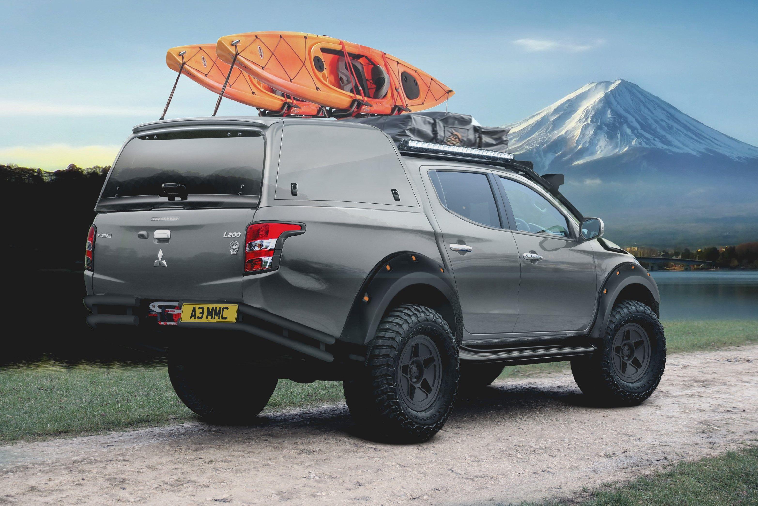 The rear of the L200 Atacama Concept has a bedmounted
