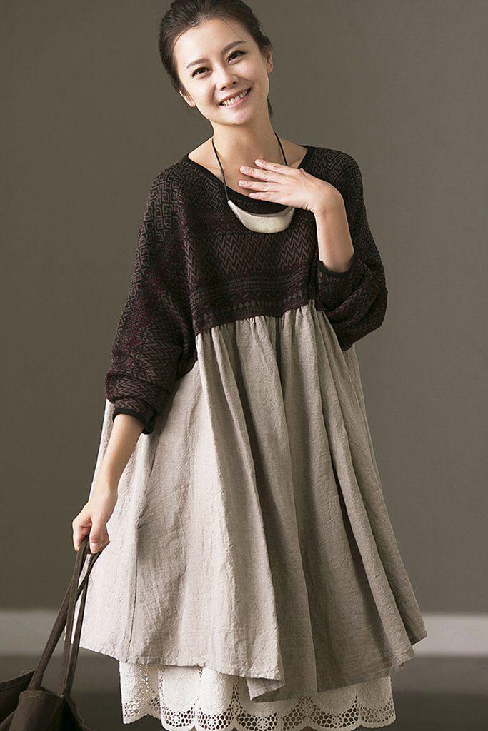 Plus Size Linen Dresses For Women Boho Pinterest Linen Dresses