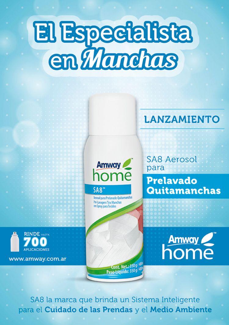 Novedades Amway Nuevo Sa8 Aerosol Para Prelavado Quitamanchas