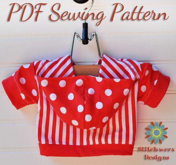 DOG T Shirt Hoodie SEWING PATTERN, Small Dog Pattern, Dog T Shirt ...