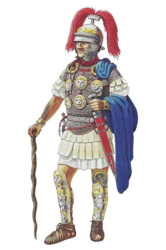 Marcus Caelius - centurion of the first rank (centurio primi ordinis) XVIII legion .