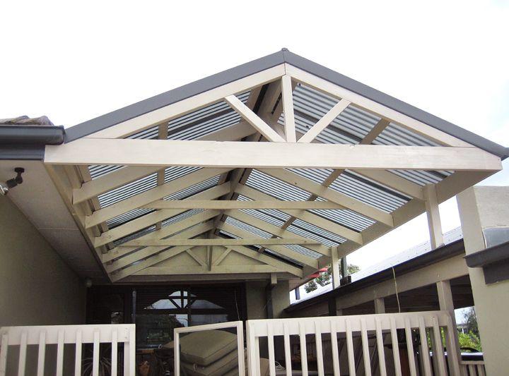 Gable Pergola Plans Peaked Pergolapergola With Slanted Roofpitched