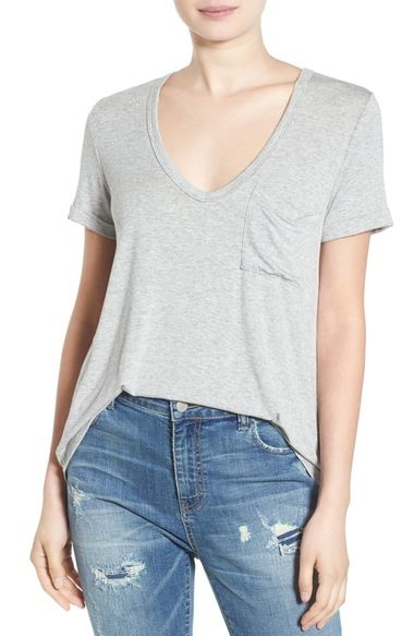 693bfbe201a58 Lush Deep-V Neck Tee available at  Nordstrom
