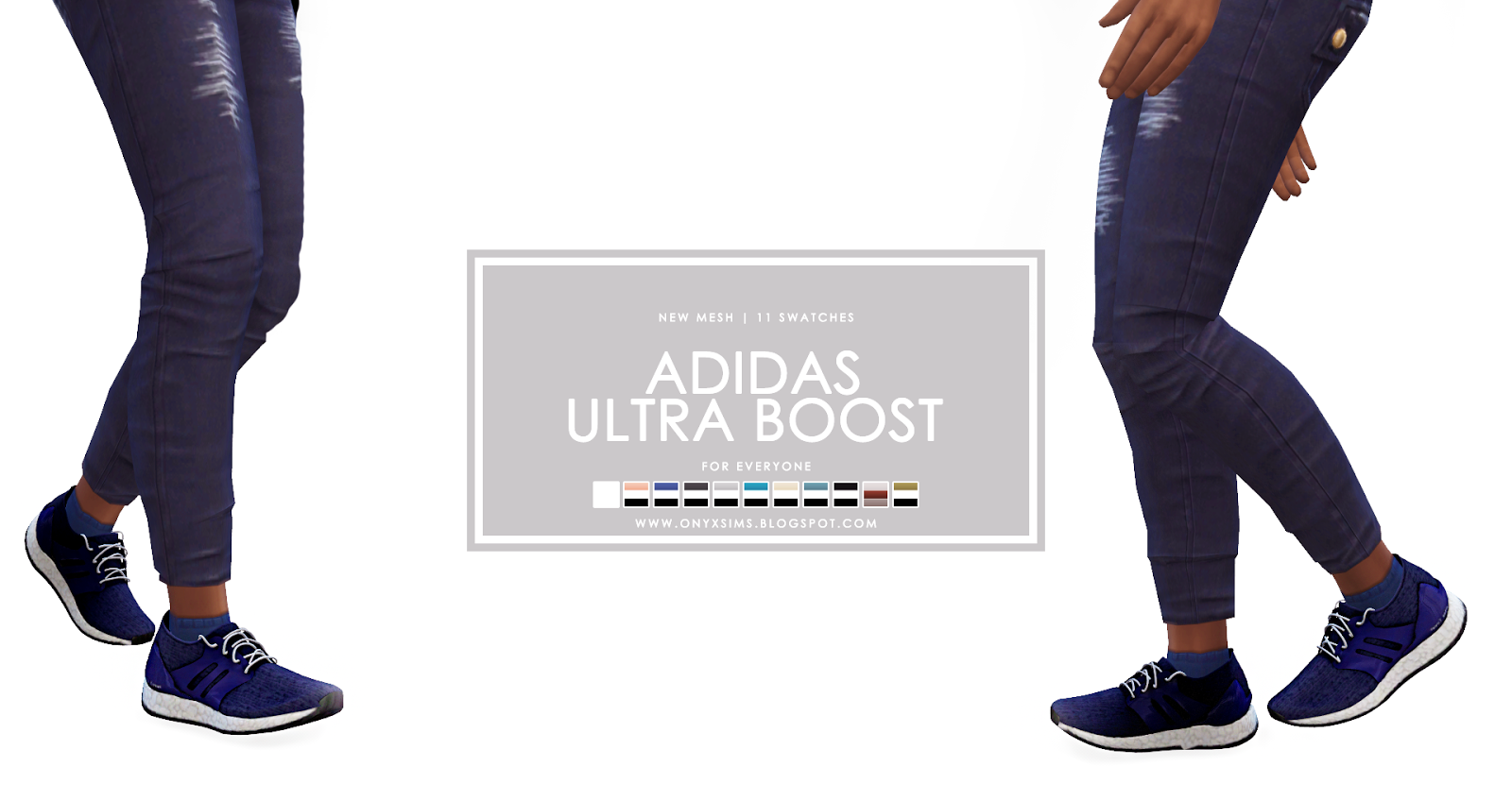 Adidas Ultra Boost for Everyone Onyx Sims | accessories