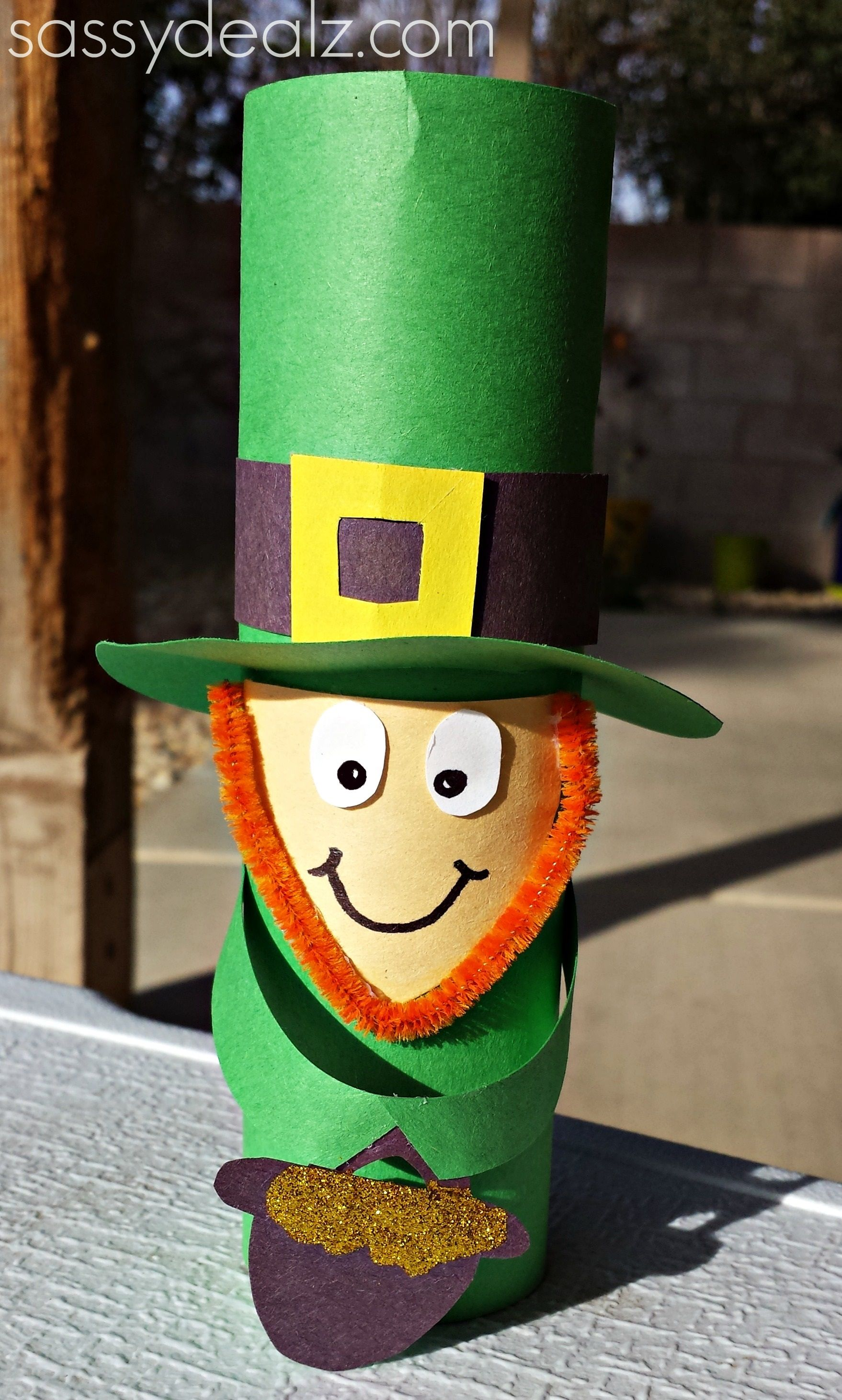 Leprechaun Toilet Paper Roll Craft For St Patrick S Day Paper