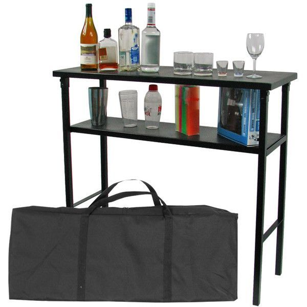Deluxe metal portable bar table w carrying case pinterest deluxe metal portable bar table w carrying case watchthetrailerfo