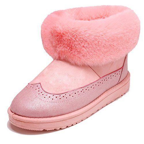 women winter warm snow ankle boots fur trim hidden heel wedge suede fur lined