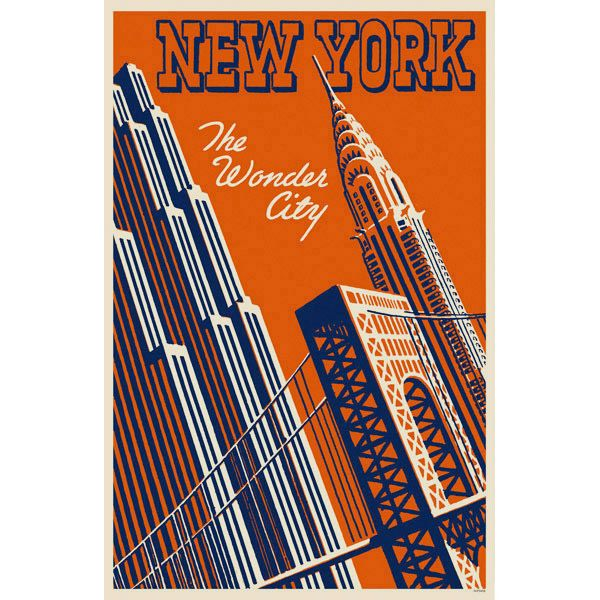 Vintage Retro New York City Poster adds unique decor to your home or business. Every New York City Travel collector would love this unusual gift. Retro New York City Posters are ready to hang with tabs on back.