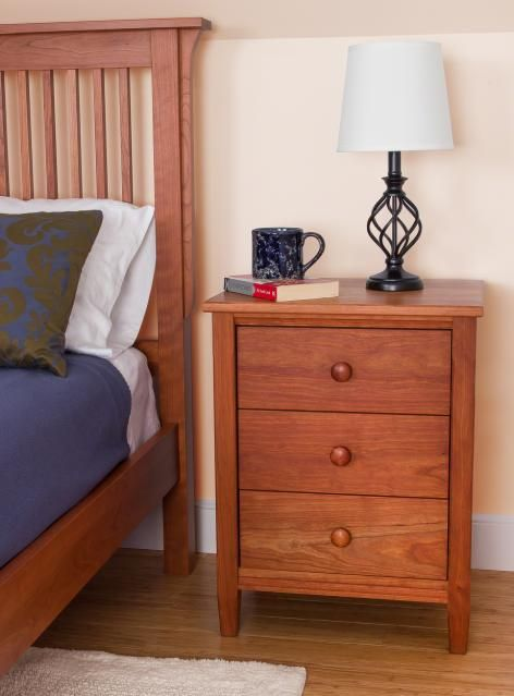 cherry wood nightstand vermont shaker