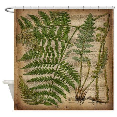 Botanical Fern Leaves Shower Curtain By Focusedonyou 2020
