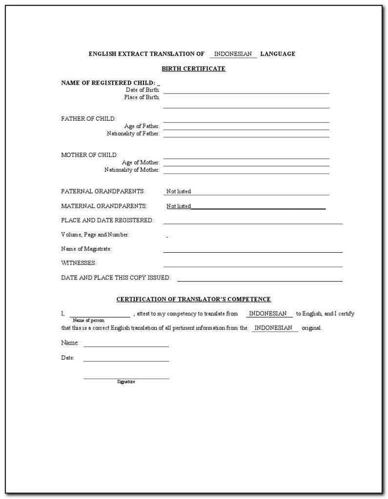 The Outstanding Birth Certificate Translation Form For Uscis Form Resume In Bi Birth Certificate Template Birth Certificate Graduation Certificate Template