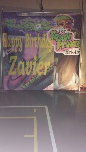 9427d4680b3 Backdrop for pics 90s Fresh Prince 13th birthday party | Zay's 13 ...